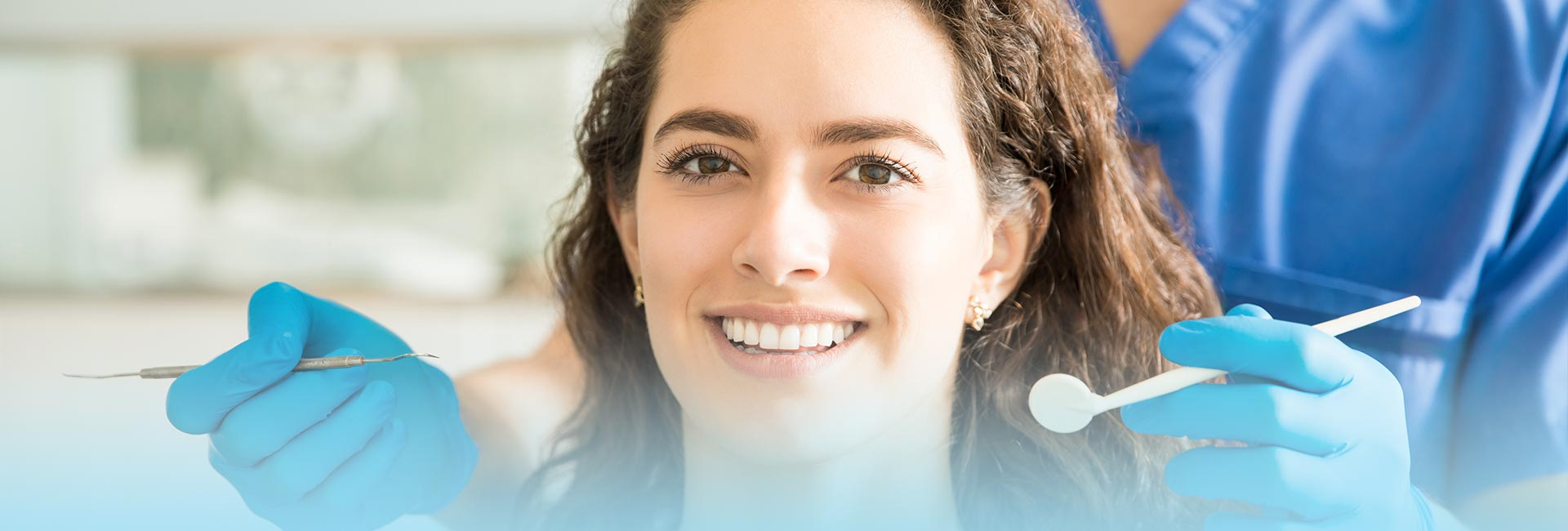 Woman smiling after smile design